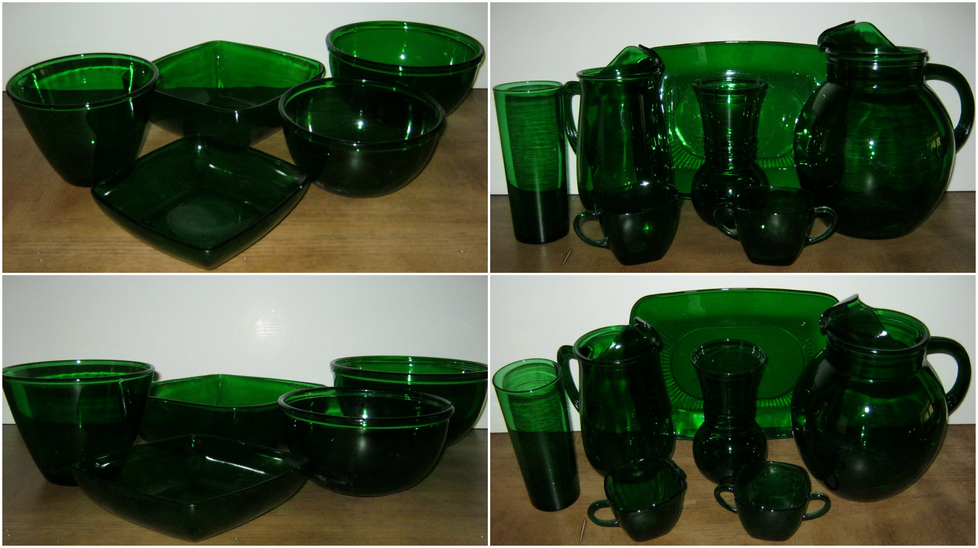 Anchor Hocking Glassware Forest Green Anchor Hocking Glassware on